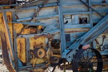 Antique farm machinery in Yuma Arizona
